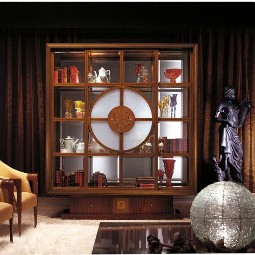 伝統的展示ケース / ガラス製 / ソリッド ウッド製 / マホガニー製