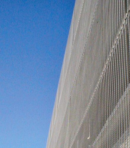 建物の正面用ワイヤーメッシュ