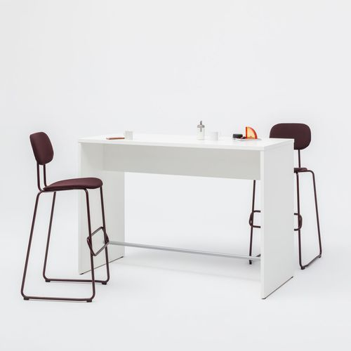 コンテンポラリーバーテーブル / 被覆鋼粉 / メラミン製 / 長方形