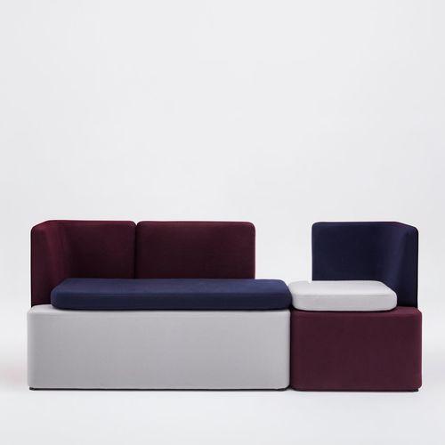 モジュール式ソファー / コンテンポラリー / 受付用 / 布製