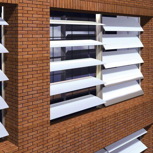 アルミ製日射遮蔽 / 建物の正面用 / 横型 / 方向調節可能