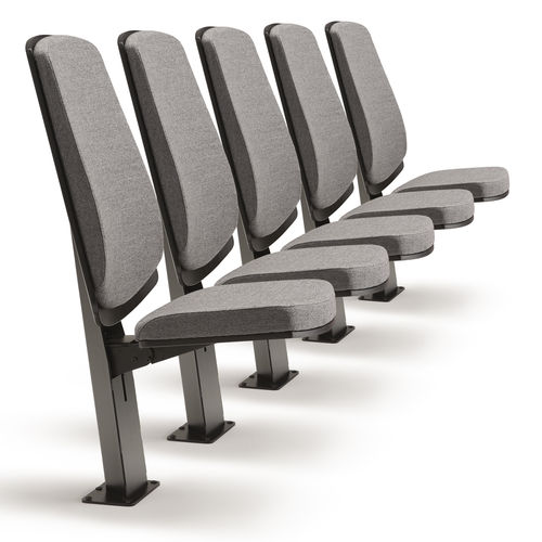 折畳み講堂チェア / 布張り / セントラルべース / タブレット式
