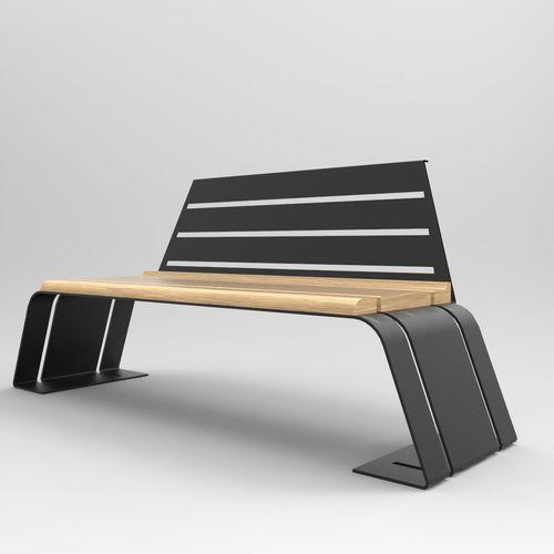 公共ベンチ / ガーデン用 / オリジナルデザイン / 木製