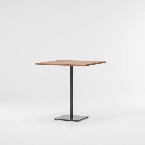 コンテンポラリーバーテーブル / チーク材 / アルミ製 / 四角形