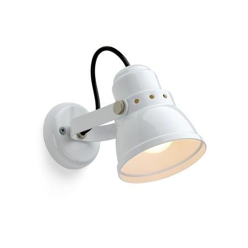 伝統的壁面ライト / スチール製 / 円筒形 / 白