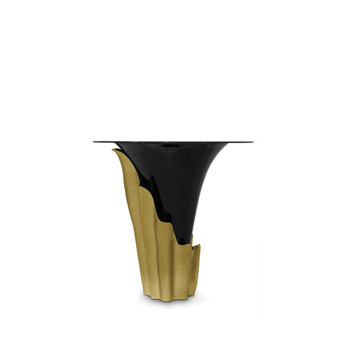 オリジナルデザインバーテーブル / 真ちゅう製 / 硬化ガラス製 / 円形
