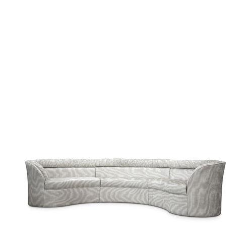モジュール式ソファー / 半円形 / 伝統的 / 布製