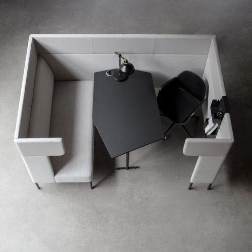 モジュール式ソファー / コンテンポラリー / 布製 / 業務用