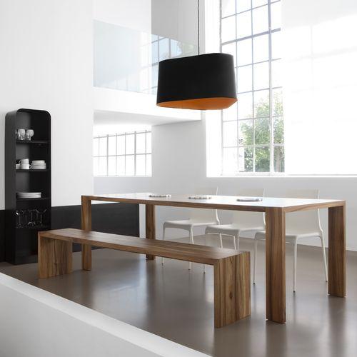 コンテンポラリーテーブルベンチセット / ソリッド ウッド製 / 屋内用 / 家庭用