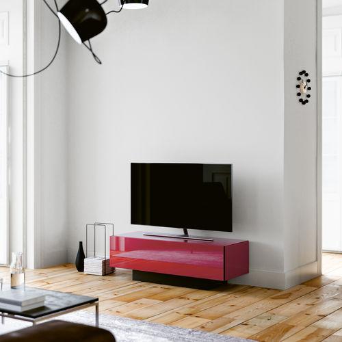 コンテンポラリーテレビキャビネット / 内臓スピーカー搭載 / ガラス製