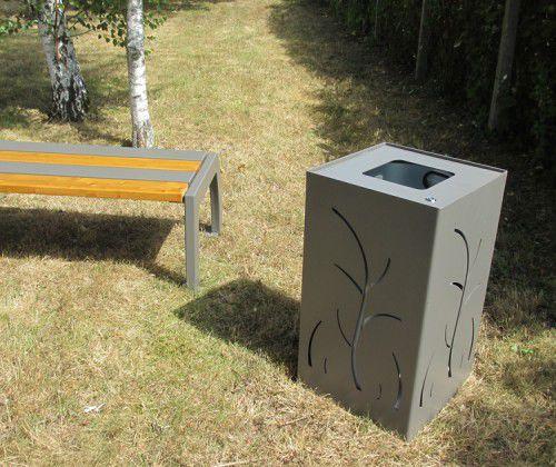 公共ゴミ箱 / 金属製 / コンテンポラリー