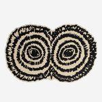 コンテンポラリー絨毯 / キルティング / ウール / 円形