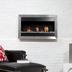 バイオエタノール暖炉 / コンテンポラリー / 開放 / 壁掛け式