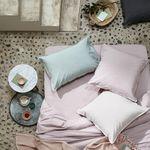 コットン製枕カバー / 自然繊維 / ポリエステル製