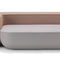 モジュール式布張りベンチ / コンテンポラリー / 布製 / レザー