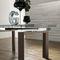 ガラス製テ-ブル / コンテンポラリー / クロムめっき使用メタル製 / 漆塗り木材製