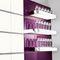 壁取り付け式棚 / コンテンポラリー / ステンレススチール製 / ガラス製