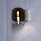 コンテンポラリー壁面ライト / 真ちゅう製 / クロムめっき使用メタル製 / 吹きガラス製