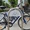 被覆鋼粉自転車ラック / ブラッシュステンレススチール / 公共スペース用