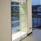 コンテンポラリー展示ケース / 埋め込み式 / ガラス製 / ステンレススチール網製