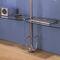 壁取り付け式棚システム / ロッド付き / コンテンポラリー / 金属製