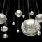 吊り下げライト / コンテンポラリー / スチール製 / 吹きガラス製
