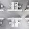 モジュール式棚 / コンテンポラリー / ラミネート状 / オフィス用