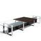 コンテンポラリー会議用テーブル / 木製 / アルミ製 / スチール製