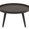 コンテンポラリーサイドテーブル / クルミ材 / トネリコ材 / 円形