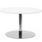コンテンポラリーサイドテーブル / 漆塗りを施したMDF / ステンレススチール製 / 円形