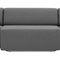 モジュール式ソファー / コンテンポラリー / 布製 / クロムめっき使用メタル製