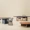 コンテンポラリー食卓テーブル / チーク材 / アルミ製 / 円形
