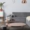 コンテンポラリーコーヒーテーブル / 硬化ガラス製 / 鉄製 / 円形