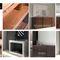 コンテンポラリーサイドボードテーブル / クルミ材 / ポリッシュステンレススチール製 / ブナの木製