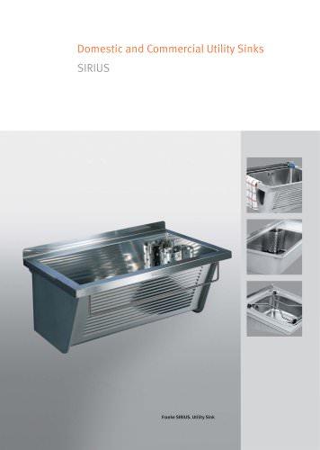 Utility- / Cleaner Sinks: SIRIUS