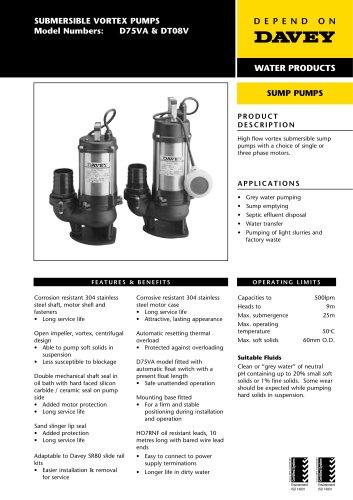 Medium Vortex Sump Pump