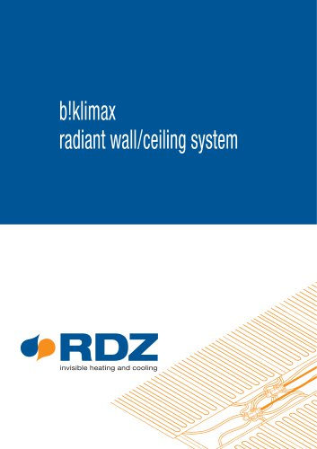 Radiant wall/ceiling system b!klimax