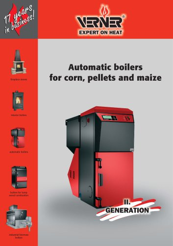 Automatic boilers for corn, pellets and maize