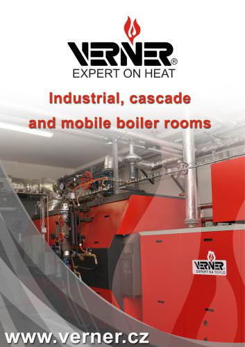 Industrial, cascade and mobile boiler rooms