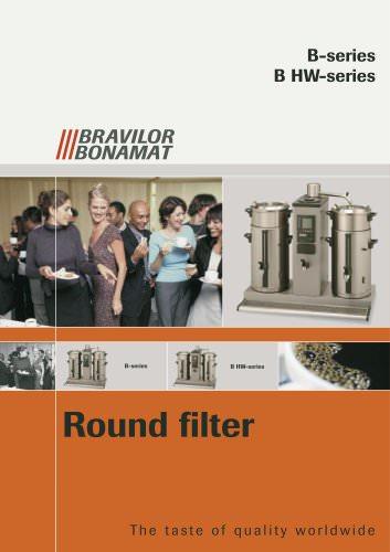 Round filtering machines