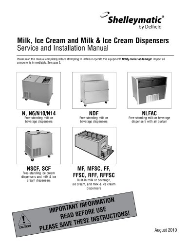 Milk, Ice Cream and Milk & Ice Cream Dispensers