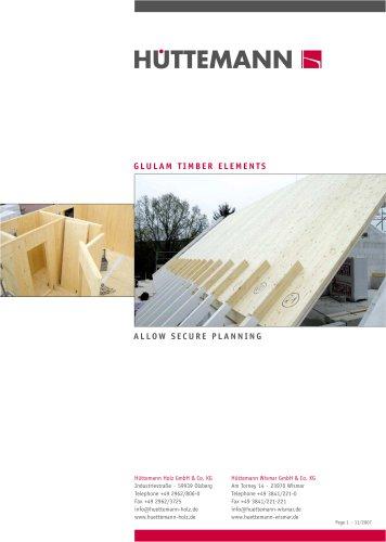 GLULAM TIMBER ELEMENTS