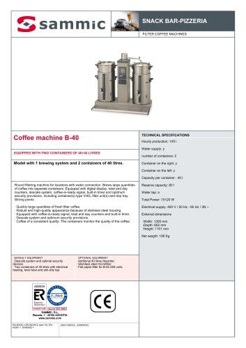 Coffee machine B-40