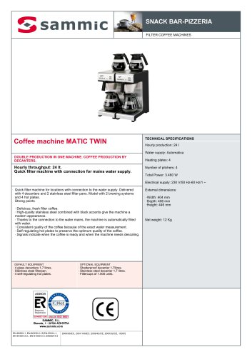 Coffee machine MATIC TWIN