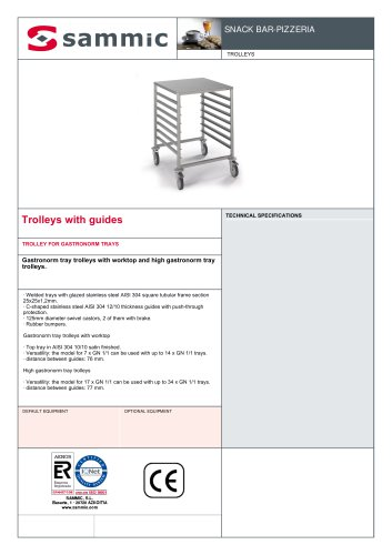 Trolleys with guides