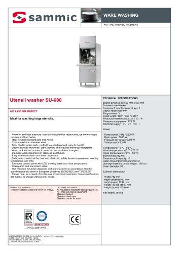 Utensil washer SU-600