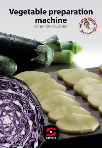 Vegetable preparation machines CA