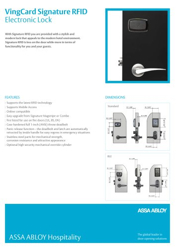 Signature RFID Product Sheet