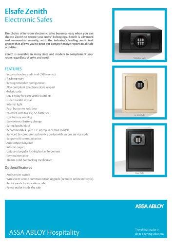 Zenith Range Product Sheet
