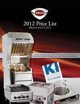 2012 price list